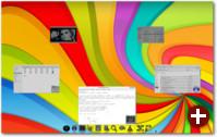 Der Anwendungsumschalter ist Teil des Fenstermanagers. Unter Compiz muss dieser extra aktiviert werden