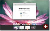 Der Desktop mit mehreren offenen Workspaces
