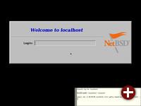 Der Login-Bildschirm von NetBSD 8.1