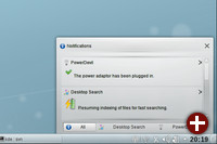 Der neue Notification-Bereich in KDE SC 4.5 Beta1