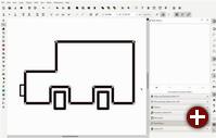 Der neue Pfadeffekt »Abrunden/Fasen« in Inkscape 1.0 Beta1