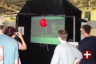 Der Stand über VRML und Web3D war mit seiner eindrucksvollen Demonstration wie schon in den vergangenen Jahren eine Attraktion.