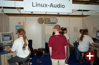 Der Stand der Linux-Audio-Mailingliste stellt mehrere interessante Audio-Applikationen für Linux vor