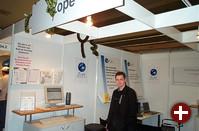 Der Stand von Zope, dem Python-basierten Applikations-Server, wurde von Eurozope organisiert. Diverse mit Zope arbeitende Firmen präsentieren hier ihre Produkte, neue Bücher und nicht zuletzt die niedlichen Plüsch-Pythons