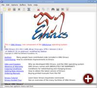 Der Texteditor GNU Emacs...