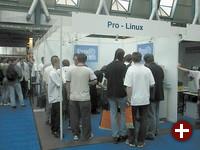 Der umlagerte Pro-Linux Stand.