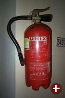 Der UNIX-Feuerlöscher, aufgenommen von hjb auf Gran Canaria, sorgte für große Heiterkeit