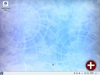 Desktop des KDE-Live-Images
