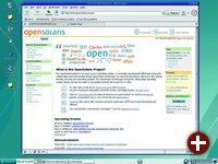 Die Benutzeroberfläche von OpenSolaris (auf Basis von Solaris Express) ähnelt der Oberfläche, die man unter Linux finden kann
