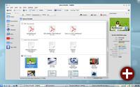 Desktop-Suche integriert in Dolphin in KDE SC 4.4