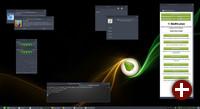 Desktop von Bodhi Linux