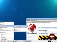 Desktop von ConnochaetOS 0.9.0
