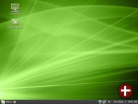 Desktop von Linux Mint 9
