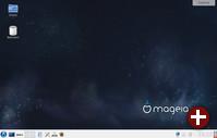 Desktop von Mageia 5 mit KDE 4.14