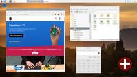 Desktop von Raspbian Buster