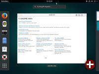 Desktop von Ubuntu Gnome