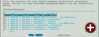 Deutsche Tastaturbelegung: In der Chroot-Umgebung konfigurieren Sie die deutsche Tastatur. Dann stehen beim ersten Start die richtigen Tasten zur Verfügung