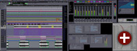 Die Benutzeroberfläche von Ardour 2.0 präsentiert sich in neuem GTK-Gewand