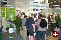 Die Linux New Media AG stieß mit ihren Zeitschriften easyLinux, Linux User und Linux Magazin auf großes Interesse.