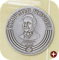 Die Medaille des IEEE Computer Society Computer Pioneer Awards