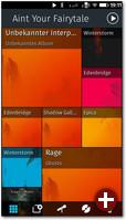 Die Musik-App mit der Übersicht aller Alben