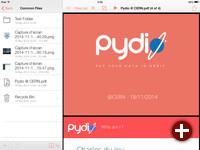Die Pydio-App
