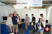 Die Show ist vorbei! Wir bauen den Pro-Linux-Stand ab und verlassen den Veranstaltungsort gegen 17:15 Uhr.