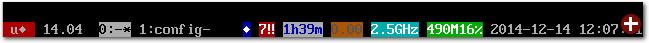 Die Standard-Statusbar von Byobu unter Ubuntu 14.04