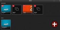 Startseite von Lychee mit Smart Albums
