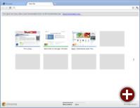 Die überarbeitete »New Tab«-Seite unter Chrome 15