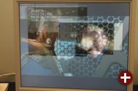 Diese Demonstration des Xgl-Servers zeigt einen HDTV-Stream und drei weitere darübergelegte MPEG-Streams