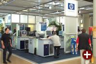 Direkt neben SAP war Hauptsponsor HP mit Druckern, Rechnern und anderen Produkten. Leider hatte ich keine Zeit, mich ausführlich zu informieren.