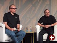 Dirk Hohndel und Linus Torvalds