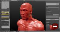 Dyntopo-Sculpting in Blender 2.71 unterstützt konstante Details