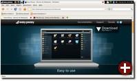 Firefox auf der Easy-Peasy-Benutzeroberfläche