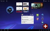 Ein Startbildschirm von Android 3.0