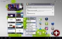 Ein Startbildschirm von Android 3.1