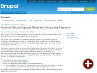 Einbruch bei Drupal.org