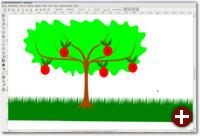 Eine einfache Grafik, die mit Inkscape erstellt wurde