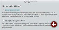 Einer für alle: In der aktuellen Version von Synergy dient das gleiche Programm zur Konfiguration von Clients wie des Servers in einer grafischen Oberfläche