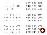 Eingegebenes und gelöstes Sudoku in Lee Hsien Loongs Programm