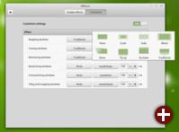 Einstellung der Fenstereffekte von Linux Mint 17.2