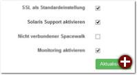 Einstellung »Solaris Support aktivieren«