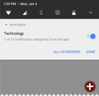 Einstellung zu einem Benachrichtigungskanal in Android O