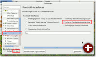 Einstellungen von VLC mit aktivierter Infrarot-Schnittstelle