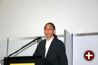 Elmar Geese vom Linux-Verband LIVE bei der Eröffnungsrede