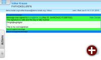 Email-Komponente von »KDE PIM Mobile«