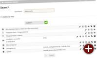 Ergebnisse der neuen schnellen Suche in Kajona 4.4