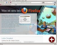 Erster Aufruf von Firefox 4