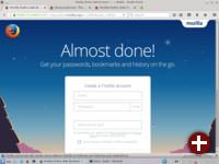 Erster Start von Firefox 45